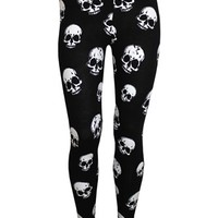 Banned Repeat Skull Leggings - Buy Online at Grindstore.com