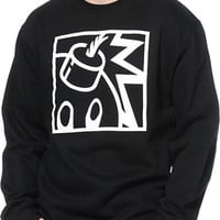 The Hundreds Forever Square Black Crew Neck Sweatshirt