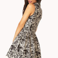 Elegant Abstract Fit & Flare Dress
