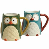 Set of 2 Owl Mugs