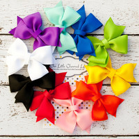 Set of 10 Hair Bows, Hair Bow Set, Rainbow Hair Bow Set, Girls Hairbows, Boutique Hair Bows,
