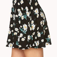 Floating Daisies Skater Skirt
