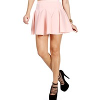 Blush Pleated Skater Skirt