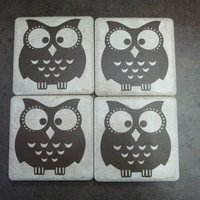 Owl Coasters by TheCraftyGeek86 on Etsy