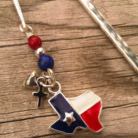 God Loves Texas Bookmark 001 by SonoraKayCreations on Etsy