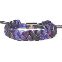 Galaxy Shoelace Bracelet (Purple Print)