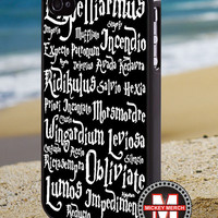 Magic Spells of Harry Potter - iPhone 4/4s/5 Case - Samsung Galaxy S3/S4 Case - Blackberry Z10 Case - Ipod 4/5 Case - Black or White