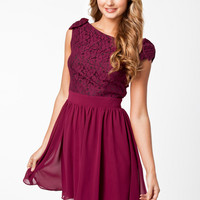 LACE TOP CHIFFON DRESS