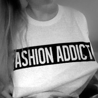 Fashion Addict tshirt for women tshirts shirts shirt top