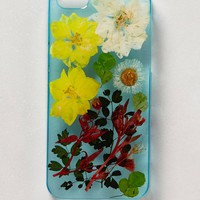Pressed Larkspurs iPhone 5 Case