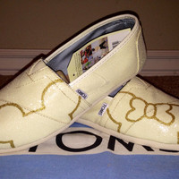 Happily Ever After Wedding Inspired Silhouette Custom TOMS Shoes
