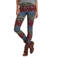 TIE-DYE TRIBAL PRINTED LEGGINGS