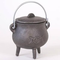 Small Triple Moon Cauldron at Every Witch Way Online Shop
