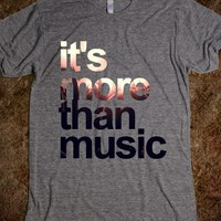 """""""It's More Than Music"""" T-Shirt-Unisex Athletic Grey T-Shirt"""