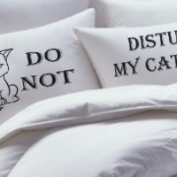 His Hers Pillowcase Set,Couples Pillowcase Set, Do Not Disturb My Cat Nap, NEW