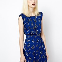 New Look Butterfly Turn Back Sleeve Dress