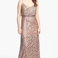 Adrianna Papell Cross Back Sequin Blouson Gown | Nordstrom