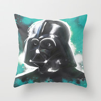 Vader Throw Pillow by Pixel Pop
