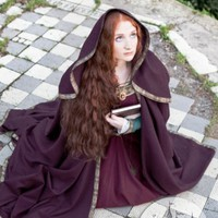 Full-round Woolen Medieval Hooded Cloak :: by medieval store ArmStreet