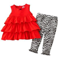 Carter&#x27;s 2-pc. Ruffle Zebra Legging Set