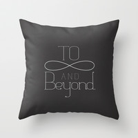 To Infinity... Throw Pillow by Emily Anne Design