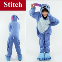 Adult Pyjamas Romper Disney Stitch Onsie Animal Onesuit Kigurumi Pajamas S-XL New