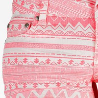 Celebrity Pink Southwestern Stretch Short