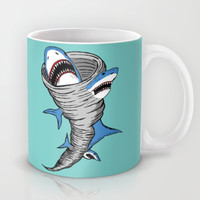 Shark Tornado Mug by JARHUMOR