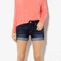 AE DENIM MIDI SHORT
