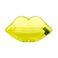 Neon Green Perspex Lips Clutch | Lips Clutches | Clutches | | Lulu Guinness