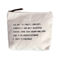 F. Scott Quote Canvas Bag