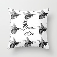 Queen Throw Pillow by Ally Coxon