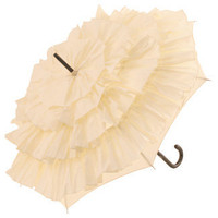 Brolliesgalore Cancan Parasol by Guy de Jean - Cream