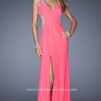 La Femme Floor Length Prom Dress 19729