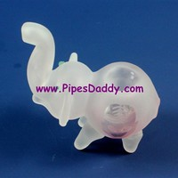 Calf Glass Animal Pipe - Frozen Pink