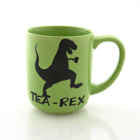 tea-rex mug, t rex, dinosaur mug, gift for tea lover