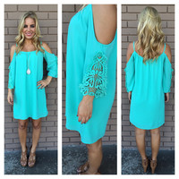 Mint Bonita Off Shoulder Dress
