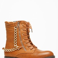 Bamboo Chain Accent Chestnut Boots @ Cicihot Boots Catalog:women's winter boots,leather thigh high boots,black platform knee high boots,over the knee boots,Go Go boots,cowgirl boots,gladiator boots,womens dress boots,skirt boots.